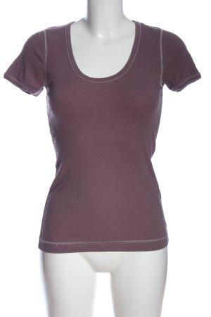 Cinque Camisa acanalada lila look casual
