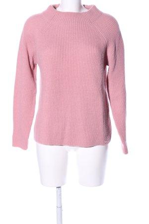 Cinque Rollkragenpullover pink Zopfmuster Casual-Look