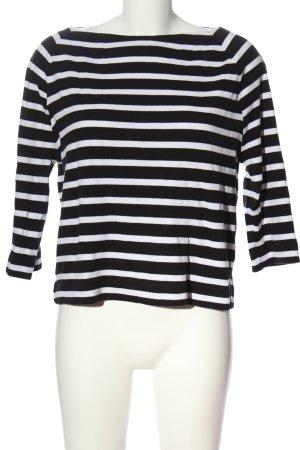 Cinque Rundhalspullover schwarz-weiß Streifenmuster Casual-Look