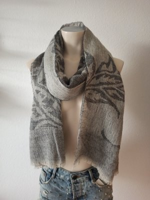 Cinque Écharpe en tricot gris clair-gris anthracite