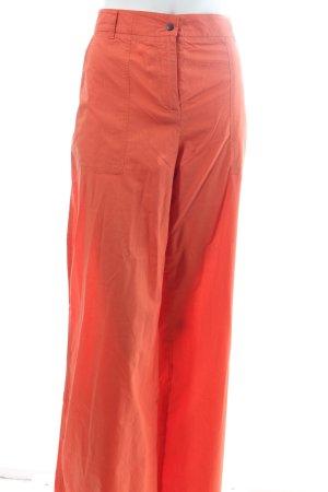 Cinque Pantalone a zampa d'elefante arancione stile semplice