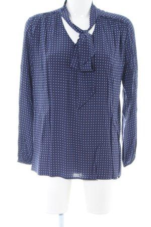 Cinque Schluppen-Bluse blau-weiß Allover-Druck Casual-Look