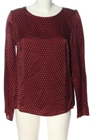 Cinque Blusa in seta rosso-nero stampa integrale stile casual