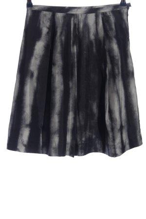 Cinque Falda de seda negro-blanco puro degradado de color look casual