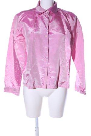 Cinque Blusa con collo alla coreana rosa stile professionale