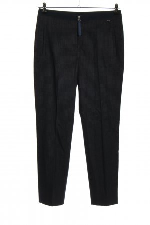 Cinque Jersey Pants black striped pattern business style