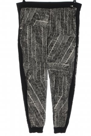 Cinque Stoffhose schwarz-weiß Allover-Druck Casual-Look