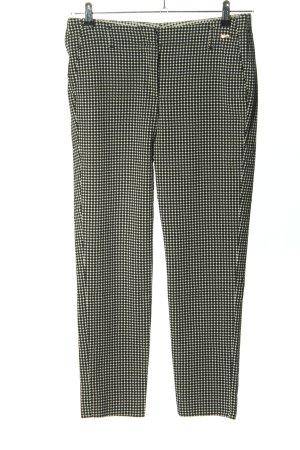 Cinque Stretch Trousers black-white allover print classic style