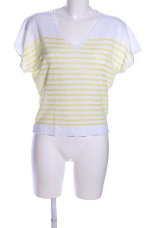 Cinque Strickshirt weiß-blassgelb Streifenmuster Casual-Look