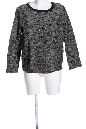 Cinque Sweatshirt noir-gris clair imprimé allover style décontracté