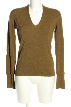 Cinque V-Ausschnitt-Pullover braun Casual-Look