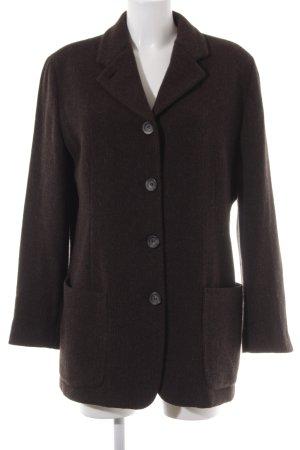 Cinque Blazer in lana marrone scuro modello web stile casual