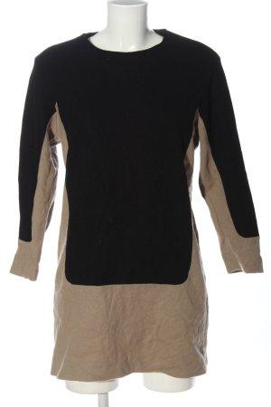 Cinque Wełniana sukienka czarny-w kolorze białej wełny Melanżowy