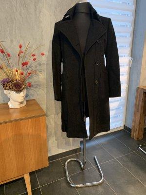 Cinque Wełniany płaszcz antracyt Wełna