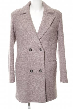 Cinque Wełniany płaszcz w kolorze białej wełny Na całej powierzchni