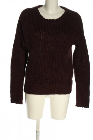 Cinque Wollpullover braun Zopfmuster Casual-Look