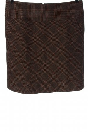 Cinque Wollen rok nude-bruin geruite print casual uitstraling
