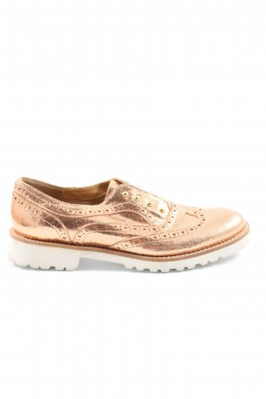 Cinti Oxfords goud casual uitstraling
