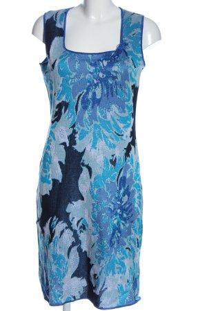cinzia caldi Sukienka z dzianiny niebieski Na całej powierzchni W stylu casual