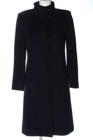 Cinzia Rocca bodenlanger Mantel schwarz Casual-Look