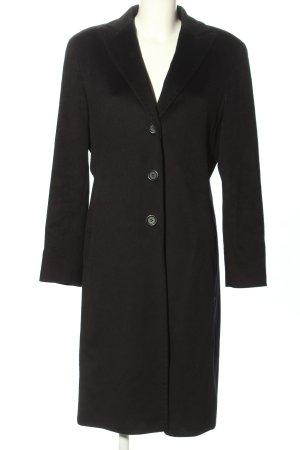 Cinzia Rocca Cappotto in lana nero stile professionale