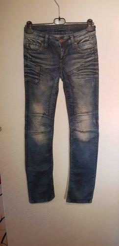 Cipo & Baxx Jeans de moto bleu acier-bleuet