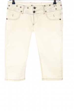 Cipo & Baxx 3/4 Length Jeans natural white-brown casual look
