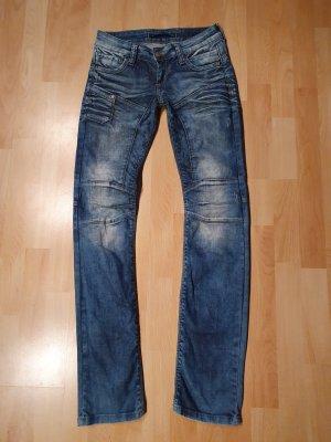 Cipo & Baxx Biker Jeans steel blue-cornflower blue