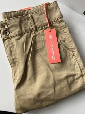 Cipo & Baxx Luźne spodnie piaskowy brąz-beżowy