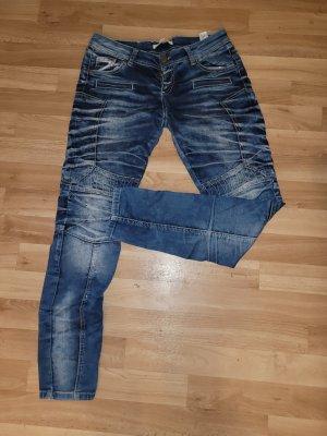 Cipo & Baxx Low-Rise Trousers dark blue