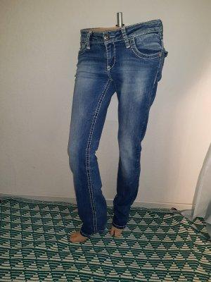 Cipo & Baxx Jeans boyfriend bleu coton