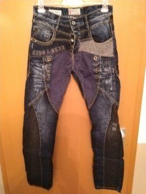 Cipo & Baxx Straight Leg Jeans black-blue