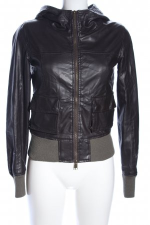 Cipo & Baxx Faux Leather Jacket brown casual look