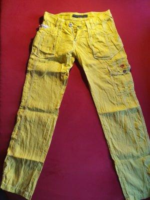 Cipo & Baxx Pantalone di lino giallo neon