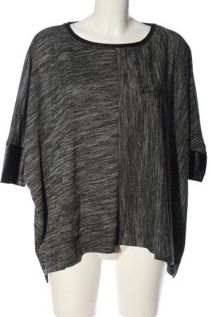 Cipo & Baxx Koszulka oversize jasnoszary-czarny Melanżowy W stylu casual