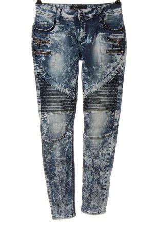 Cipo & Baxx Jeans a sigaretta blu-bianco stile casual