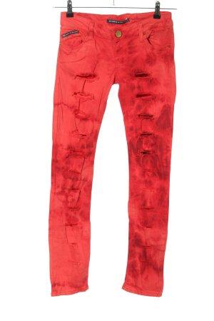 Cipo & Baxx Jeansy o obcisłym kroju czerwony Abstrakcyjny wzór