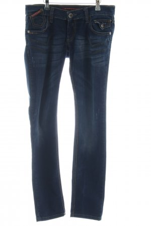 Cipo & Baxx Skinny Jeans dunkelblau Casual-Look