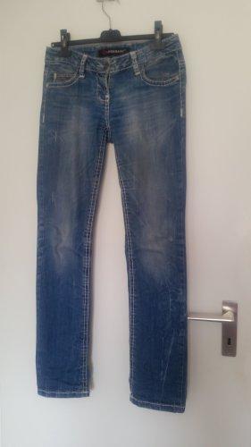 Cipo & Baxx Straight Leg Jeans slate-gray