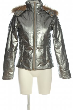 Cipo & Baxx Winter Jacket silver-colored themed print casual look