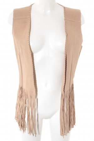 Circle of Trust Fringed Vest nude Boho look