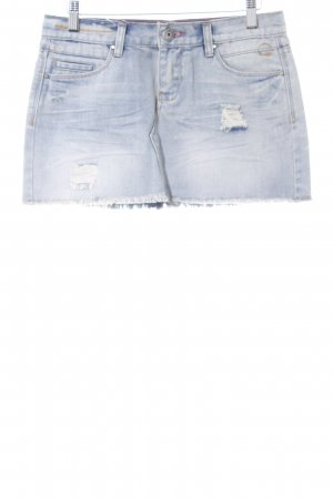 Circle of Trust Denim Skirt pale blue casual look