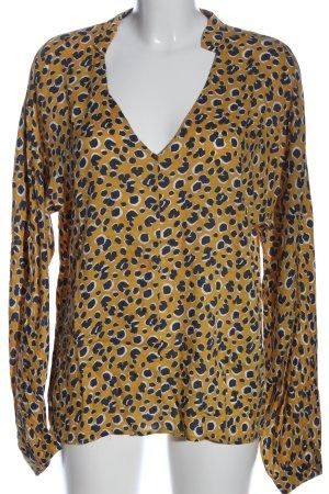 Circle of Trust Long Sleeve Blouse primrose-blue allover print extravagant style