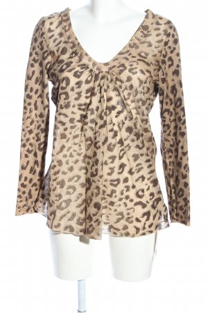 Circle of Trust Slip-over Blouse cream-brown animal pattern casual look