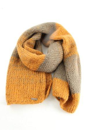 Circle of Trust Gebreide sjaal licht Oranje-lichtgrijs gestippeld