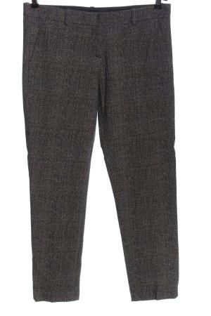 Circolo Pantalone a 7/8 nero-bianco sporco puntinato stile casual