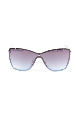 Hoekige zonnebril blauw