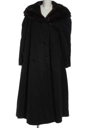 Cirstein Abrigo de invierno negro look casual
