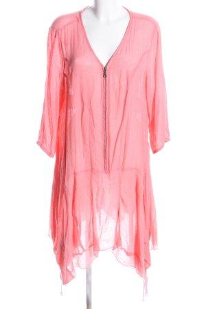 Ciso Vestido tipo túnica rosa look casual