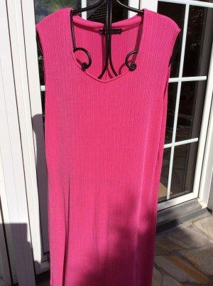 Citiknit`S - Edles langes Sommer Kleid SLINKY Stoff PINK - KORALLE Size 42-44